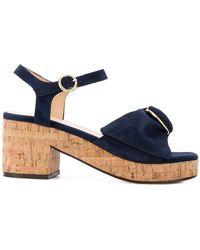 Tila March - Deia Cork Heel Sandals - Lyst
