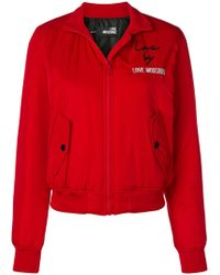 Love Moschino - Embroidered Bomber Jacket - Lyst