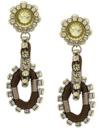 DSquared² - Crystal Embellished Earrings - Lyst