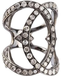 Loree Rodkin - Spiked Diamond Double Loop Ring - Lyst