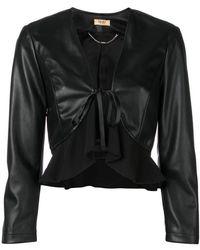 Liu Jo - Faux Leather Cropped Jacket - Lyst