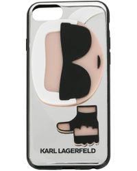 Karl Lagerfeld - Mirror Karl Iphone Case - Lyst