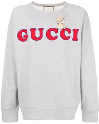 48570f4740c Lyst - Gucci Coco Capitán Logo Sweatshirt in Natural for Men