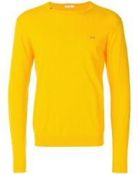 Sun 68 - Neck Detail Sweater - Lyst