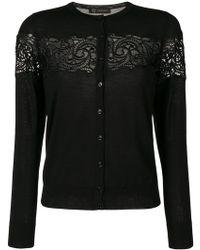 Versace   Baroque Lace Cardigan   Lyst