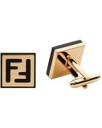 Fendi - Enamel Logo Cufflinks - Lyst