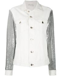 IRO - Sequin Sleeves Denim Jacket - Lyst