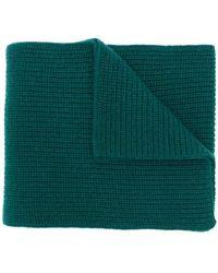 N.Peal Cashmere - Sciarpa di maglia con design a coste - Lyst