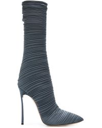 Casadei - Pointed Pleated Boots - Lyst