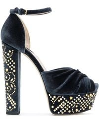 Elie Saab - Studded Platform Sandals - Lyst