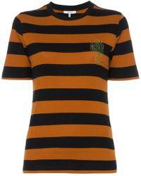 13f3e52e Ganni - Everman Crystal Cactus Embellished Stripe Cotton T Shirt - Lyst