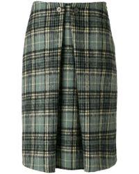 Aspesi - Pleated Tartan Skirt - Lyst