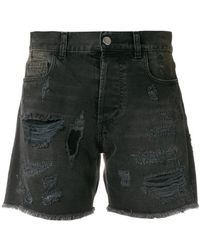 Faith Connexion - Distressed Denim Shorts - Lyst