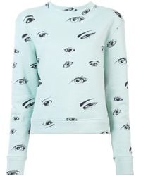 The Elder Statesman - Eye Print Sweatshirt - Lyst