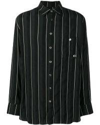 74fe152f59 Lyst - Raf Simons Self Portrait-print Denim Shirt in Black for Men