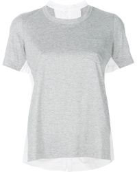 Sacai - Scoop Neck T-shirt - Lyst