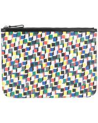 Pierre Hardy - Geometric Printed Clutch Bag - Lyst