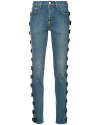 Tu Es Mon Tresor - Side Ribbon Skinny Jeans - Lyst