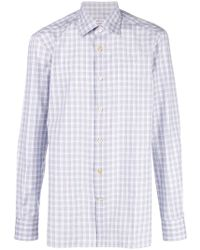Kiton - Plaid Button Shirt - Lyst