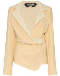 Jacquemus - Wrap Blazer Jacket - Lyst