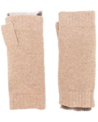 N.Peal Cashmere - Fur-trim Fingerless Gloves - Lyst