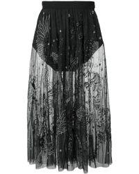 Amen - Embroidered Sheer Skirt - Lyst