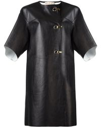 Marni - Hook And Eyelet Leather Coat - Lyst