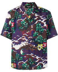 DSquared² - Seidenhemd mit Hawaii-Print - Lyst