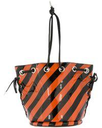 G.v.g.v - Striped Bucket-style Shoulder Bag - Lyst