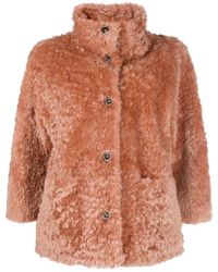 DESA NINETEENSEVENTYTWO - Shearling Button Jacket - Lyst