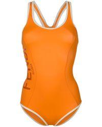 Fendi - Logo Print Swimsuit - Lyst