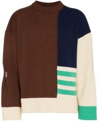 ADER error - Contrast Panel Wool Jumper - Lyst