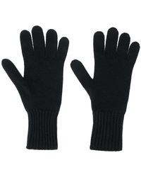Pringle of Scotland - Ribbed Cuffs Knit Gloves - Lyst