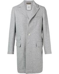 Eleventy Single Breasted Coat - Gray