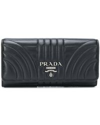 Prada - Quilted Logo Wallet - Lyst