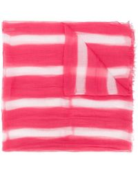 Suzusan - Frayed Striped Scarf - Lyst