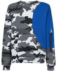 Mostly Heard Rarely Seen - Camouflage Colour Block Sweatshirt - Lyst