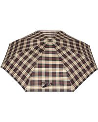 Burberry - Check Print Folding Umbrella - Lyst