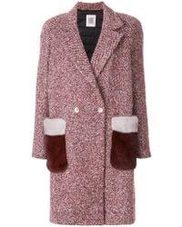 Eleventy - Fur Pocket Coat - Lyst