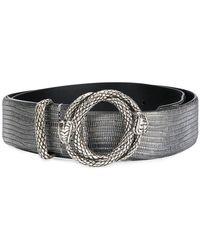 Just Cavalli - Embossed Snake Buckle Belt - Lyst