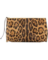 B May - Leopard Print Make Up Bag - Lyst