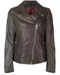 Belstaff - Fitted Biker Jacket - Lyst