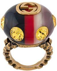 Gucci - Gg Logo Ring - Lyst
