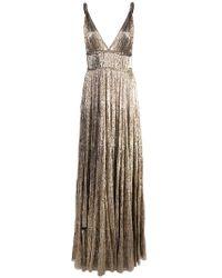 Oscar de la Renta - Shimmer V-neck Gown - Lyst