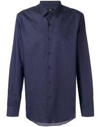 BOSS - Plain Button Shirt - Lyst