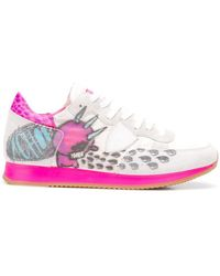 Philippe Model - Printed Lace-up Trainers - Lyst