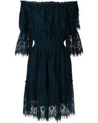 Perseverance London - Lace Off The Shoulder Dress - Lyst
