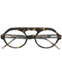 a7d5ab6b8697 Lyst - Thom Browne Silver And Gold Tb-910 Glasses in Metallic