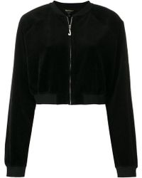 Juicy Couture - Swarovski Embellished Velour Crop Jacket - Lyst