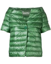 Herno - Shortsleeved Puffer Jacket - Lyst